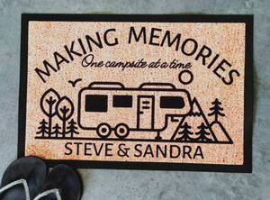 Making memories camping doormat fifth wheeler