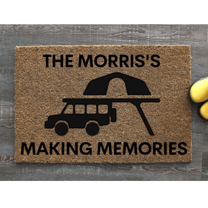 Making memories camping doormat