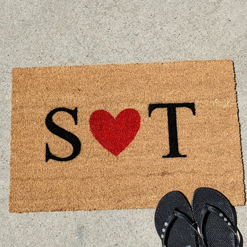 Custom Front Door mat with initials | Personalised Doormat