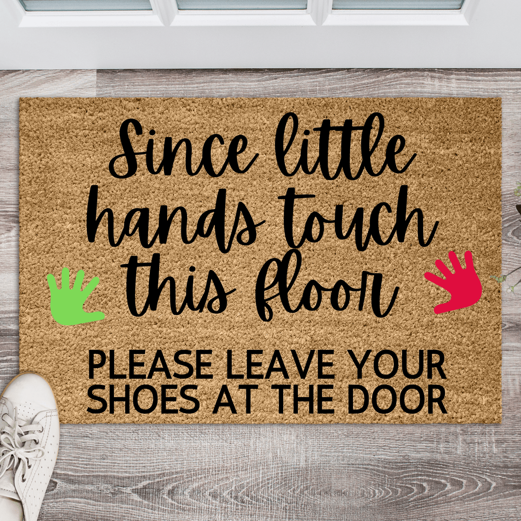 Since little hands touch this floor doormat