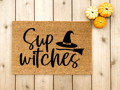 Sup Witches Halloween doormat