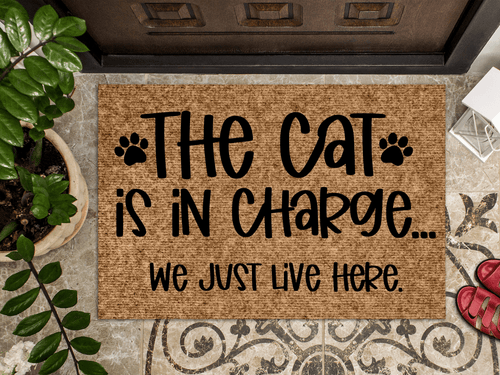 The Cat is in charge doormat