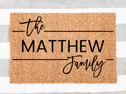 The family name Personalised Door mat