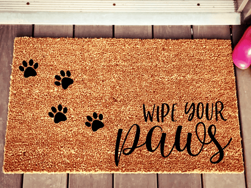 Wipe your paws cat or dog doormat