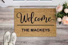 Load image into Gallery viewer, Welcome Family Name Personalised Doormat