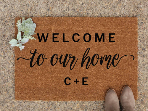 initals Personalised Doormat - Welcome to our home
