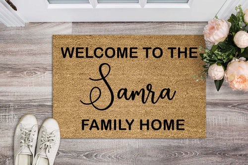 Family Home Personalised Doormat