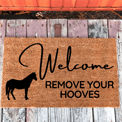 Welcome Horse Doormat