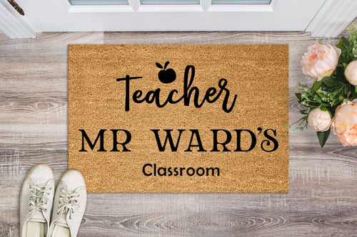 Personalised Teachers Doormat - Personalised Doormat Australia