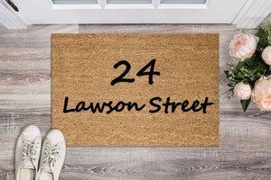 Street Name Doormat in Lawson Font - Personalised Doormat Australia