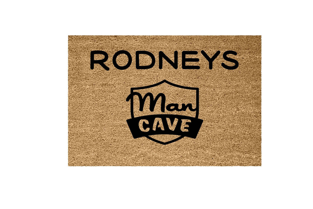 Man Cave doormat. - Personalised Doormat Australia