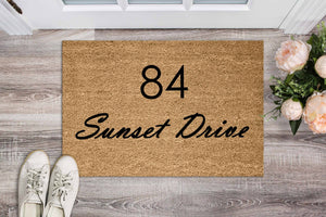 Street Name Doormat - Personalised Doormat Australia