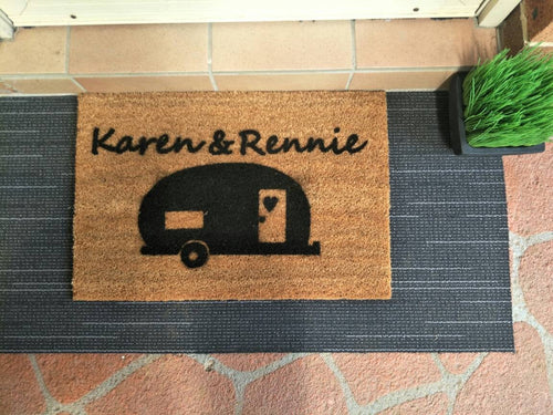 Personalised Caravan Doormat - Personalised Doormat Australia