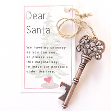 Load image into Gallery viewer, Santa Key christmas