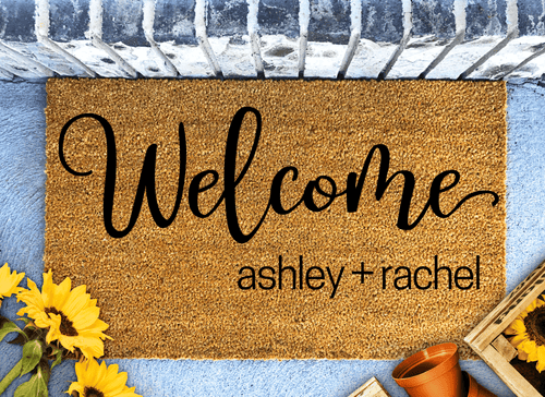 Welcome personalised doormat