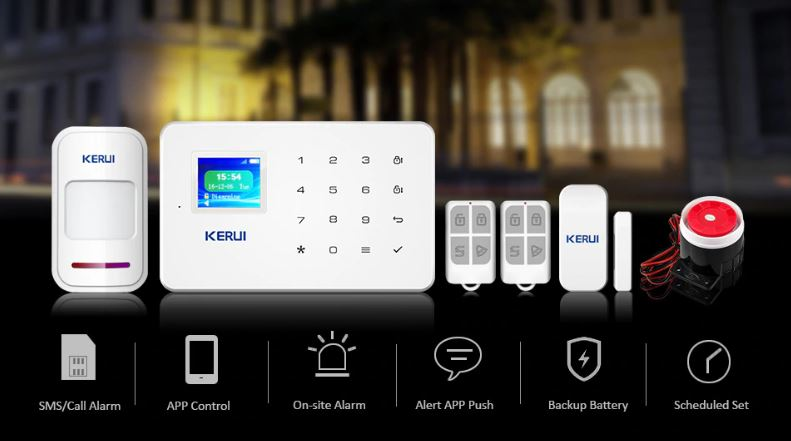 WIRELESS Security Alarm System - Motion Sensor and APP Control!!