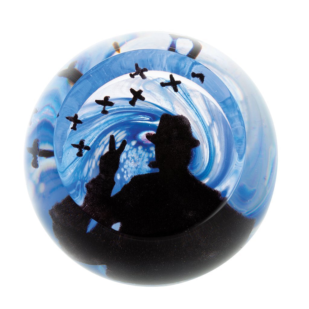 Caithness Glass Churchill Paperweight-delivery 2021-Caithness Glass-Goviers of Sidmouth