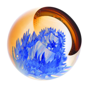 Caithness Glass Floral Charms Cornflower Paperweight-delivery 2021-Caithness Glass-Goviers of Sidmouth