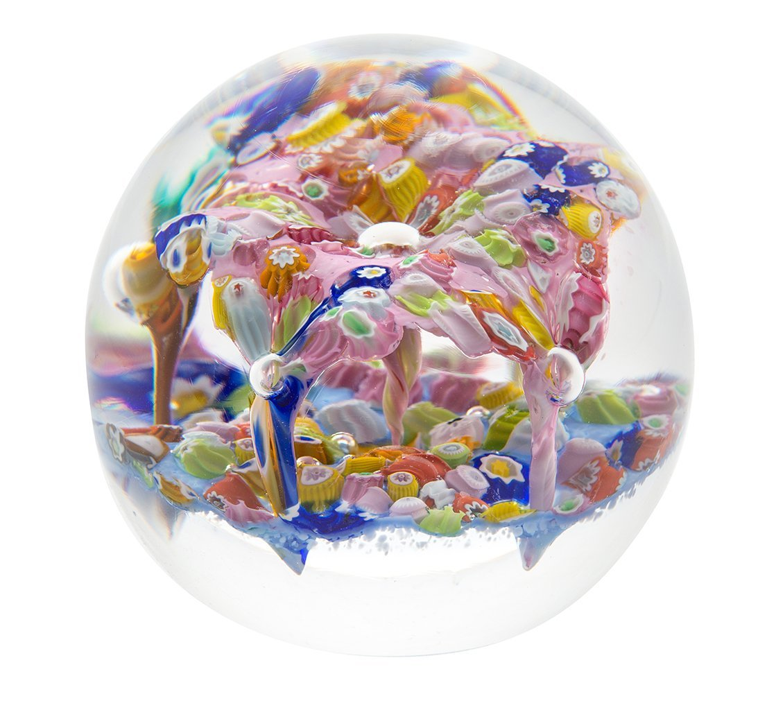 Caithness Glass Millefiori Fingal's Cave Minature Paperweight-delivery 2021-Caithness Glass-Goviers of Sidmouth
