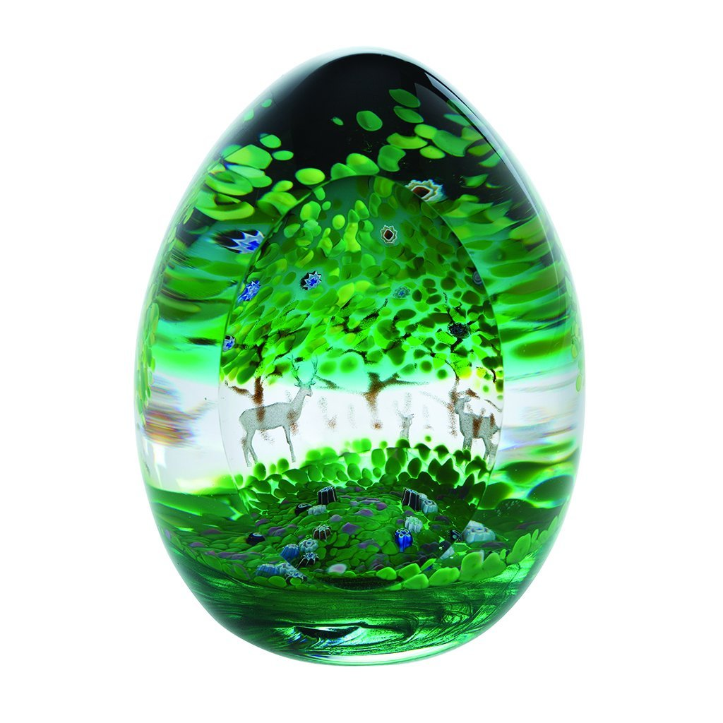 Caithness Glass Woodland Seasons Summer Blossom Paperweight-delivery 2021-Caithness Glass-Goviers of Sidmouth
