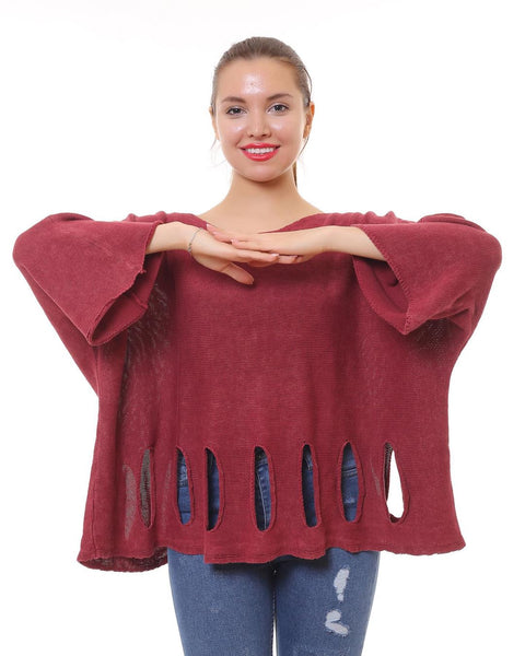 24010- Cotton,  Casual Bohemian Sweater