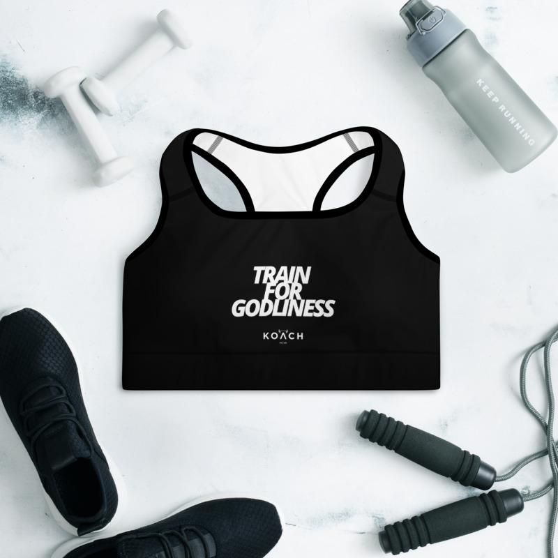 "KOACH ""Train For Godliness"" Padded Sports Bra"