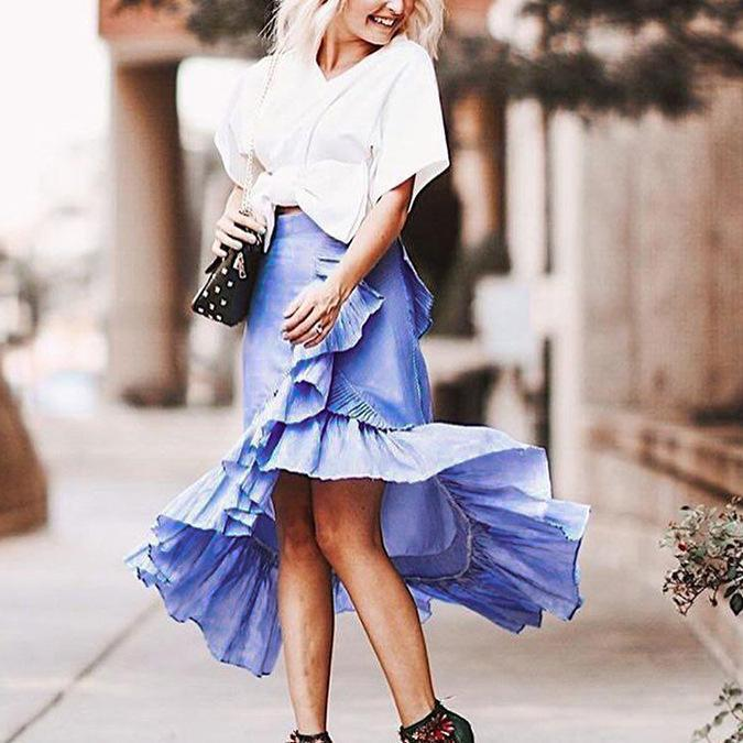 Fashion Irregular Lacce Skirt