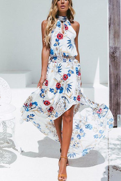 Sexy Bohemia Sleeveless Vacation Maxi Dress