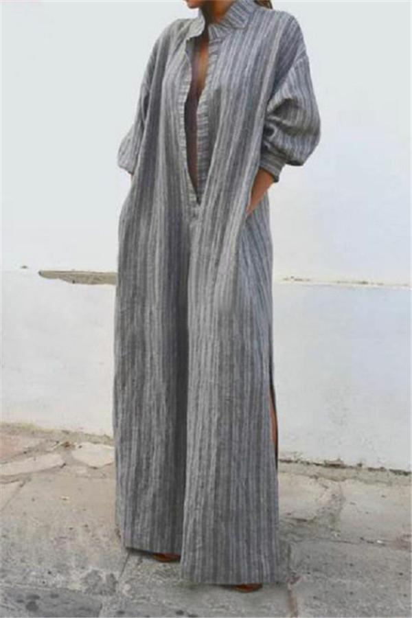 Leisure To Open A Vintage Long Casual Dress