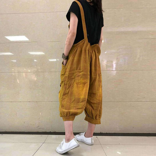 Cotton/LINE Hollow Out  Wide Leg Jumpsuit
