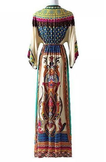 Bohemian Printed National Style Casual Dress