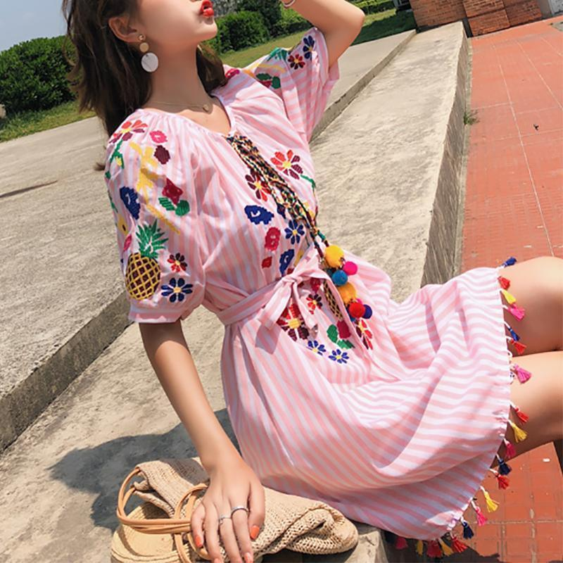Fashion Inwrought Loose Halflong Sleeve Mini Dresses