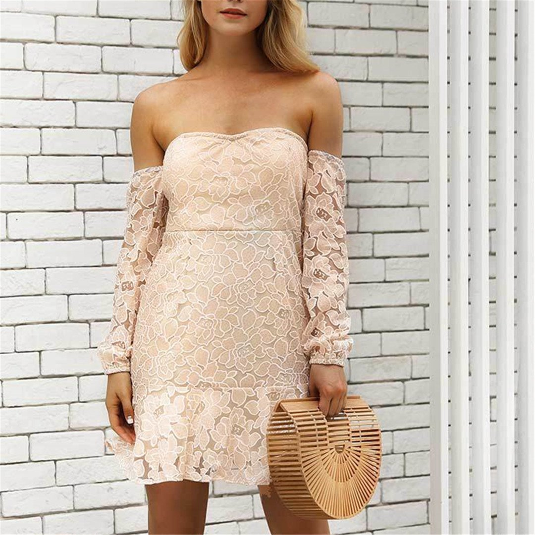 Sexy One Shoulder Lace Dress