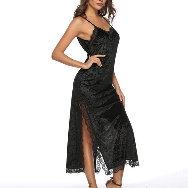 Sexy V Neck Off-Shoulder Sling Maxi Dresses