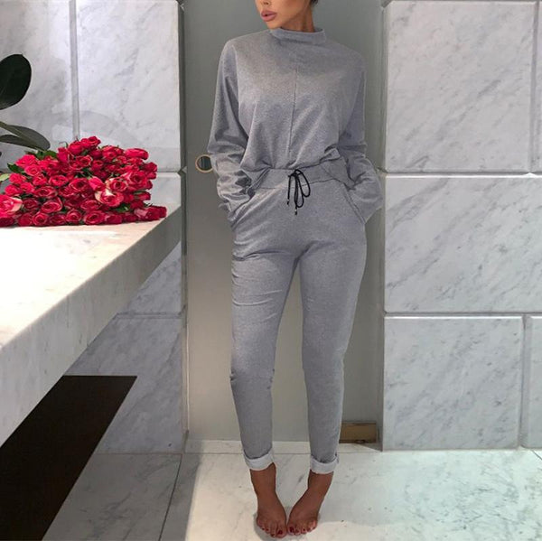 Casual Pure Colour Long Sleeve Slim Jumpsuits