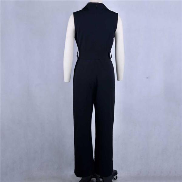 Sexy V Collar Sleeveless Jumpsuits