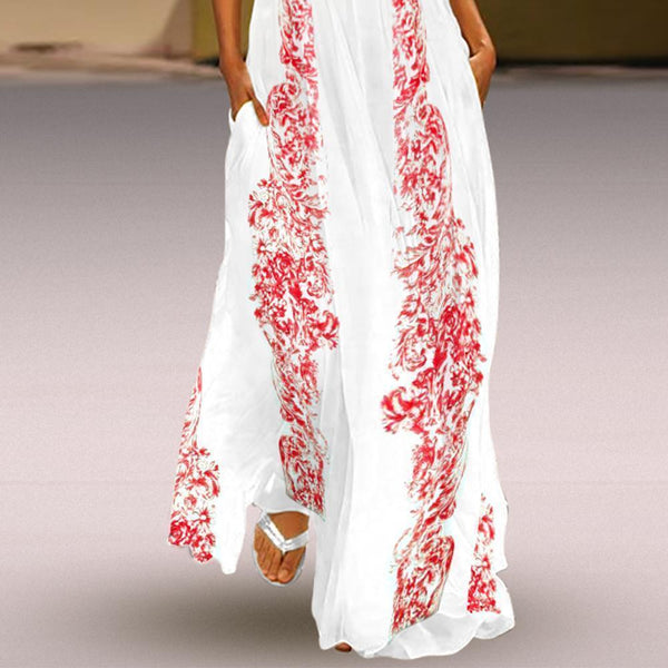 Floral Printed Maxi Casual Dress
