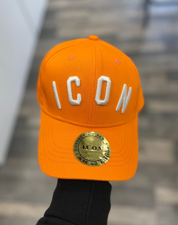 Casquette orange ICON blanc - Stayin