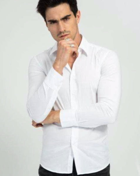 Frilivin - Chemise manche longue blanche #NS7179 - Stayin