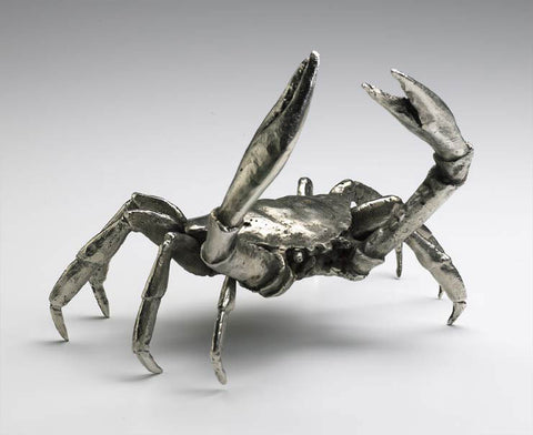 "Jupiter Isle Collection // Large Crab - Chrome 9"" W"