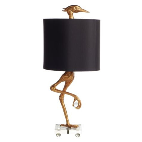 "Bleecker Collection Heron / Crane  Table Lamp 35"" H"