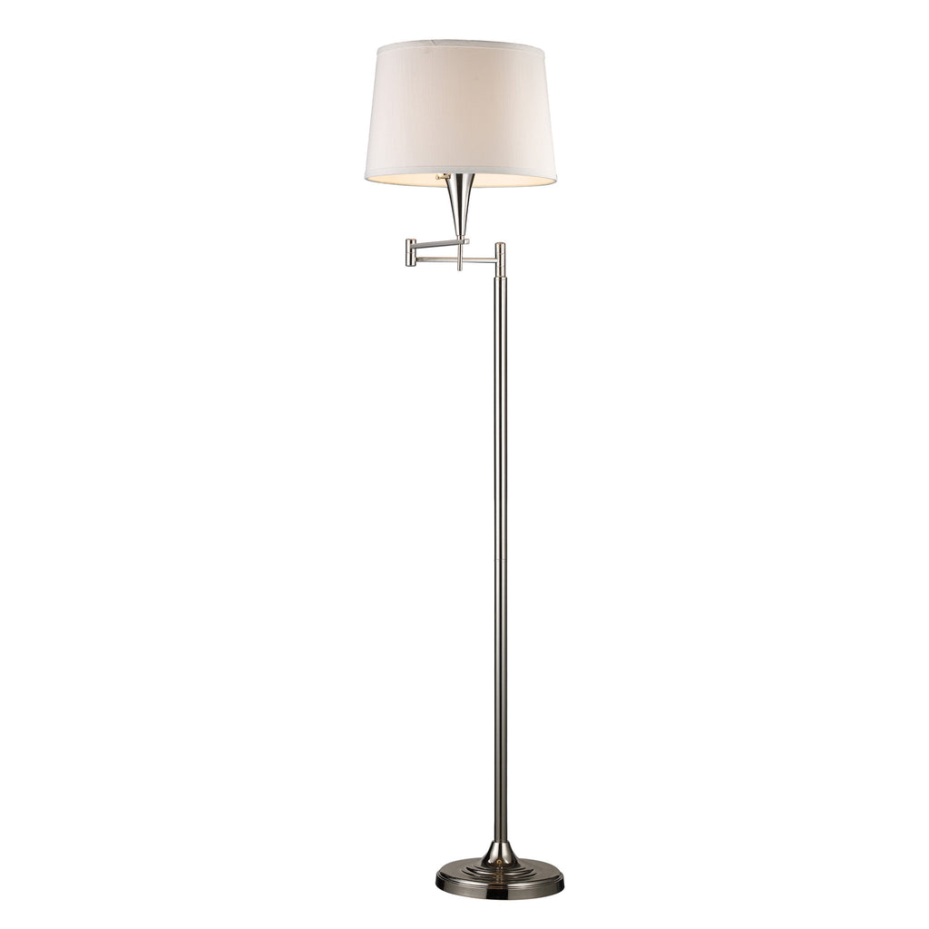 Swingarm Floor Lamp in Polished Chrome