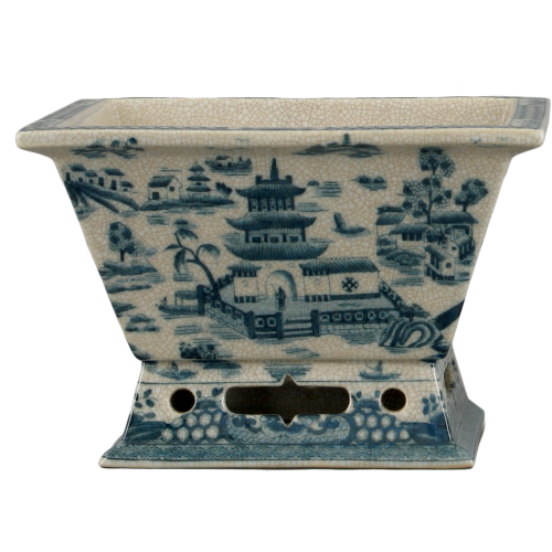 Blue De Chine Rectangle Antique Wash Basin