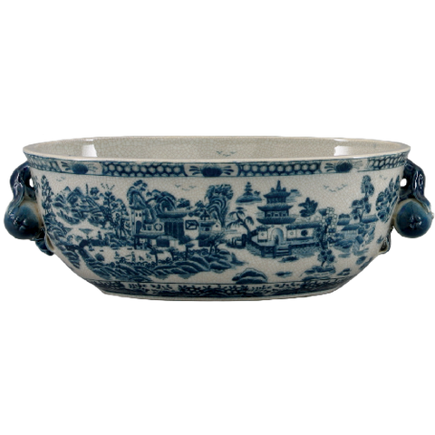 Blue De Chine Large Wash Basin /Orchid Pot