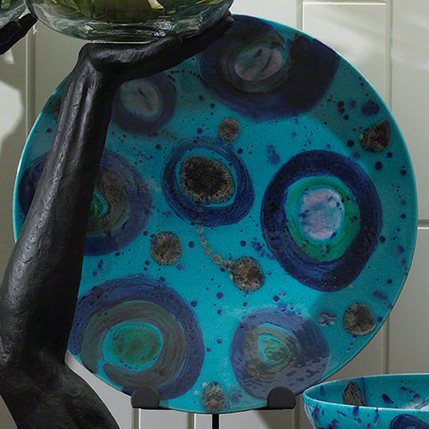 "Charger / Blue Spots  22.5"" Diameter"