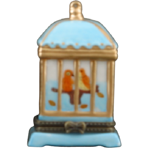 Limoges Style Bird House Ring Box