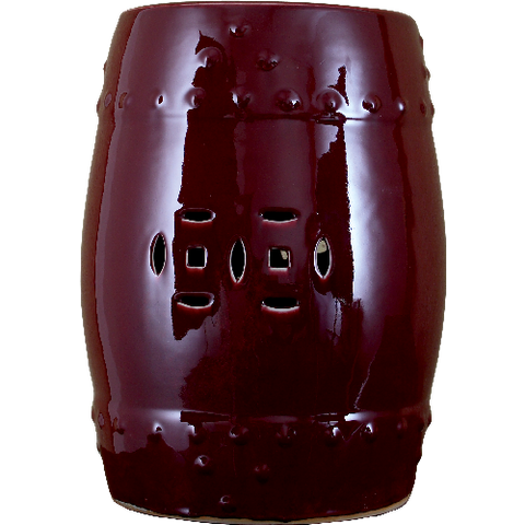Garden Stool -Oxblood Red Porcelain