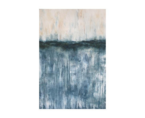 "U N T I T L E D Blue 72"" H  Gallery Canvas"