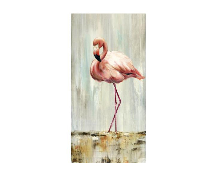 "Flamingo Impression 1 - 60"" H X 30"" W  on Gallery Canvas"