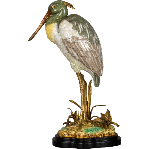 Florida Porcelain Heron on Base